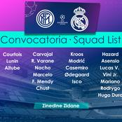 OFFICIAL : Casemiro IN - Real Madrid release the official squad for their Match against Inter Milan
