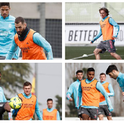 Latest training photos of Arsenal, Real Madrid and Bayern Munich preparing for their respective Game