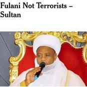 Opinion: A Disagreement with Sultan's 'Fulani Not Terrorists' Assertion
