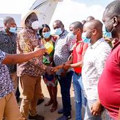 Our Political Enigma, Raila Appraised As He Landed In Taita Taveta For 2 Days Visit(Photo)