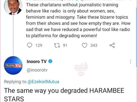 Inooro TV Caught up in an Ugly Incident After This 'Inappropriate' Reply to Moral Cop Ezekiel Mutua