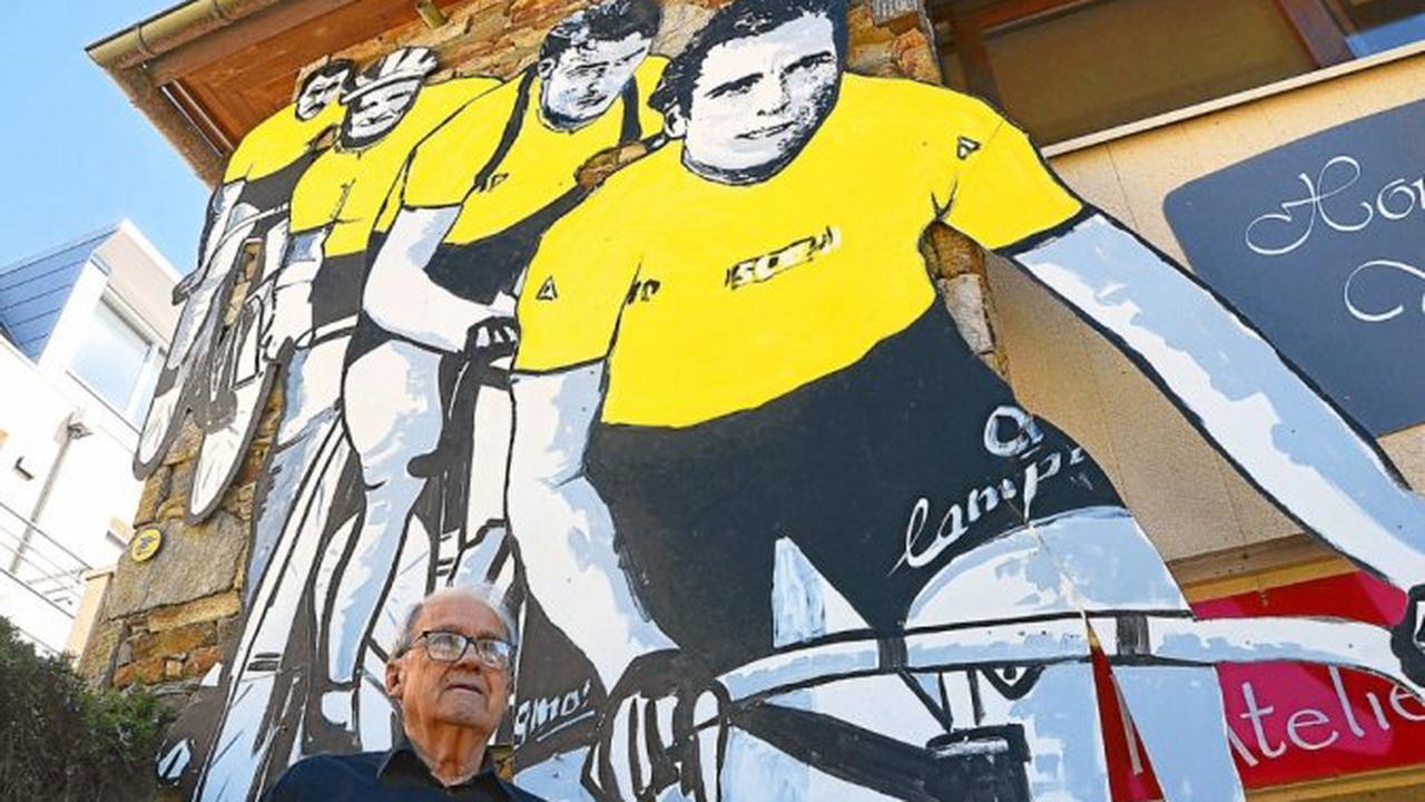À Perros-Guirec, Paul Houyvet rend hommage aux Bretons vainqueurs du Tour