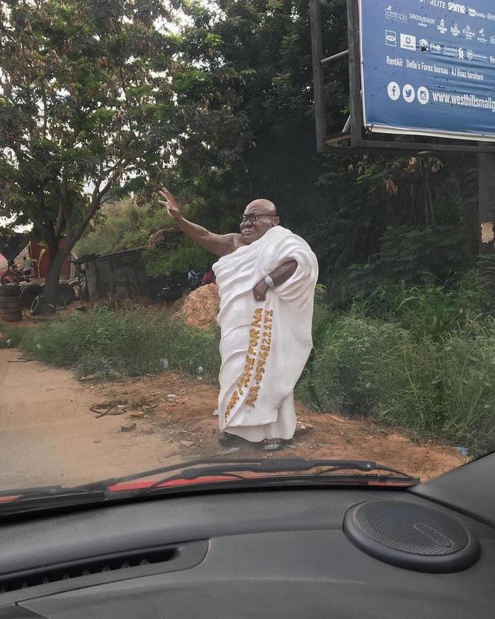 """1b8124a30f40d40214193a8ed590acd6?quality=uhq&resize=720 - """"Who Did This?"""" - Ghanaians React To A Bizarre Sculpture Of Nana Addo"""