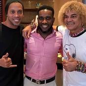 Okocha With  Messi, Flavour, Davido, Ronaldinho [Photos]