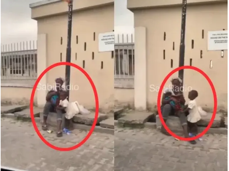I Shed Tears Over What This Beggar Was Spotted Doing On The Road