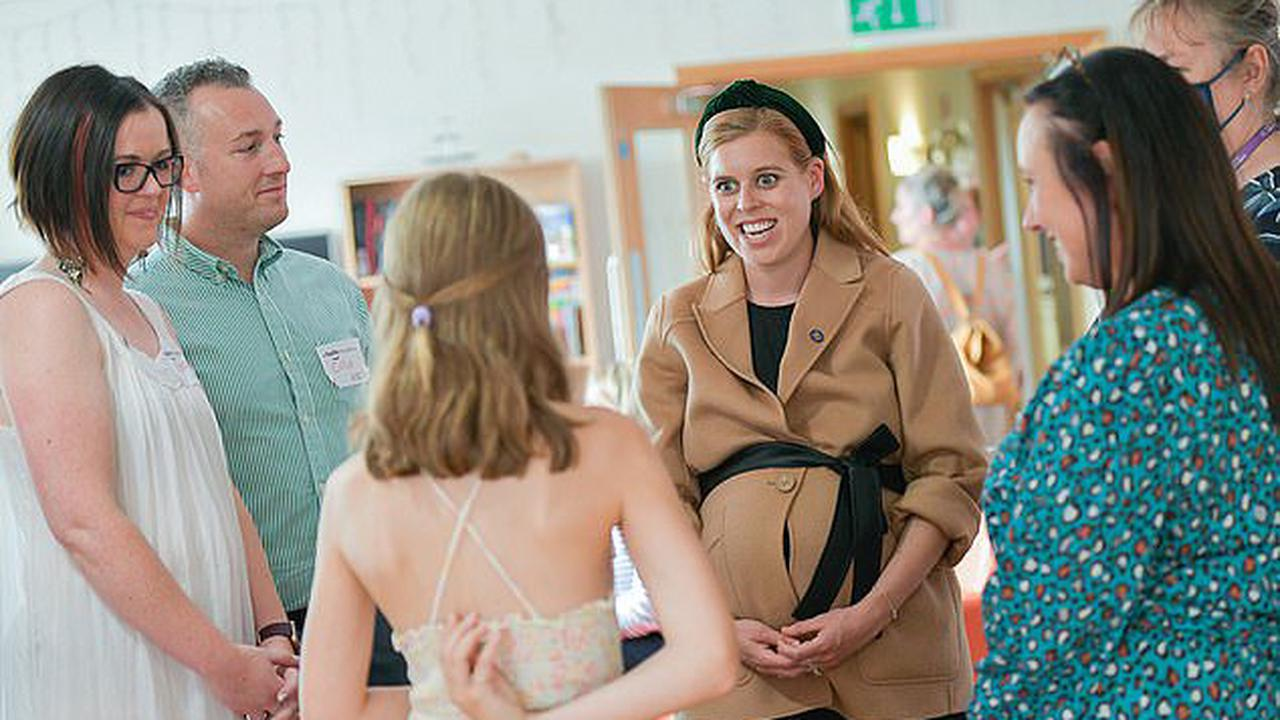 Princess Beatrice visited the Forget Me Not Children's Hospice in Huddersfield