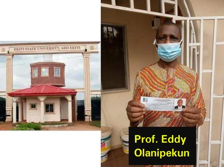 Ekiti State University VC, Prof. Eddy Olanipekun Show-Off His APC Membership Revalidation Card