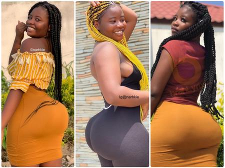 Top 10 Hot photos from Narhkie, the Curvy Ghanaian Lady controlling Social Media