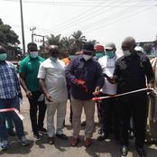 Anambra State Governor Willie Obiano Inaugerates Road Maintenance Exercise At Oye Neni