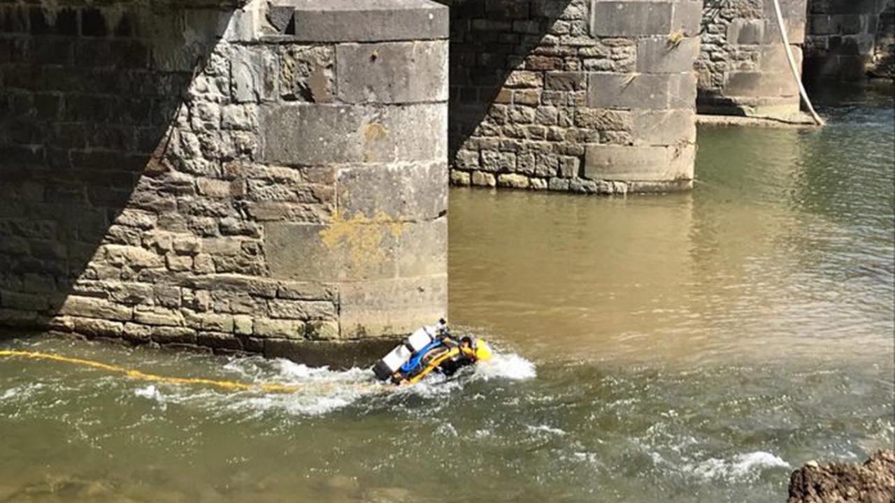Nach Hochwasserkatrastrophe: Trierer Taucher kontrollieren Brücken im Ahrtal