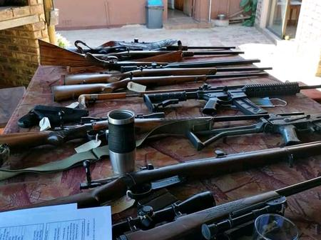 Police Discover a house with a large number of firearms in Free state