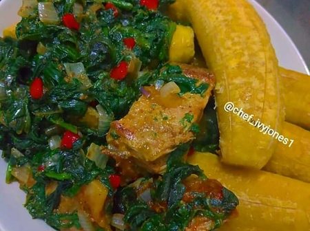 See how to Plantain and Stir fry Veggies at home, see recipe