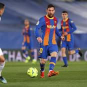 Checkout How Messi performed in Barcelona's 2-1 loss to Real Madrid, according to opta statistics