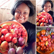 Lady Reveals Tomatoes, Onions, And Pepper She Bought For 100 Naira In North