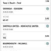 Stake on these Five Matches to win you Big late night.