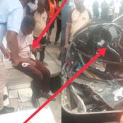 Just In: Man Escapes Death As a Tipper Racing On Top speed runs into a Mercedes at Port Harcourt
