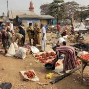 This is how Shasa market looks like after the market was reopened in Ibadan