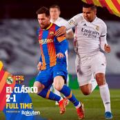 Barcelona players react after 'El-clasico' loss