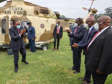 Raila, Ruto, Uhuru, First Lady Margret Kenyatta & Other Politicians Arrive in Kisii Stadium [Photos]