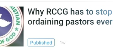 How RCCG Failed to take my warning serious