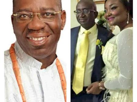 Edo State Governor Godwin Obaseki Condoles With Senator Victor Ndoma-Egba Over His Wife's Death.