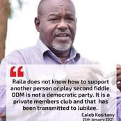 ODM Is A Private Members Club- Soy Mp Caleb Kositany Hits out At Raila Odinga