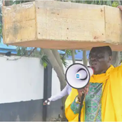 Cleric Protests Against Buhari's Govt With Coffin