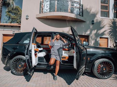 SHUTDOWN| Mamkhize Shuts Down Mzansi With NEW R16 MILLION Rolls Royce [See Pics]