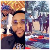 Reactions As E- Money's Brother Kcee Gives Away Some Of His Clothes To The Needy(Photos)