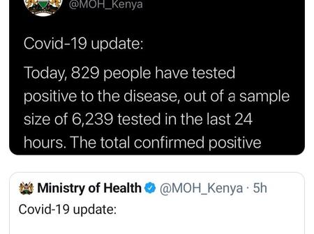 Tweet Evidence That The Ministry Of Health Has Been Cooking Numbers Could Be Fake