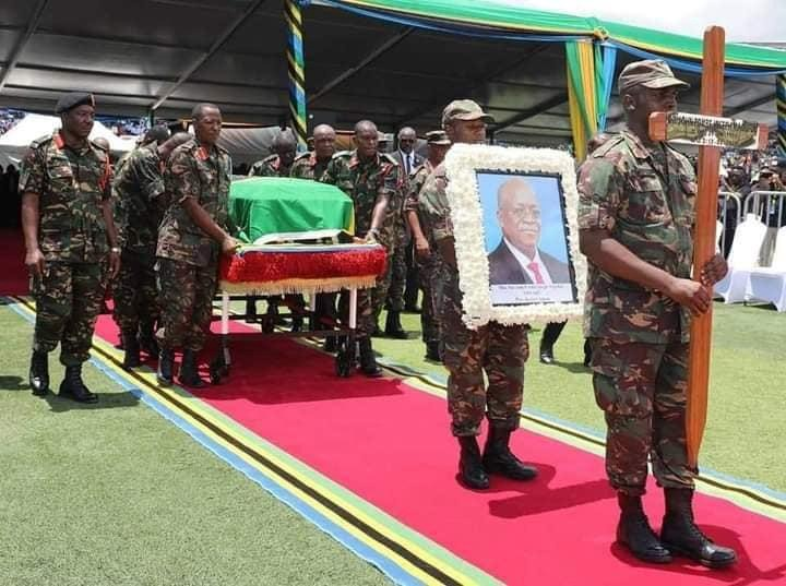 1ccf9447f4d149e893f3643e4e75ad33?quality=uhq&resize=720 - Sad Moment: Tears Flow As President John Magufuli's body Is Being Carried To Church - Sad Scenes