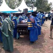 Breaking news: Only educated people were allowed to serve in a burial of Prof DVC Andaje Mwisukha