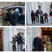 PHOTOS: Dr Ngozi Okonjo-Iweala steps out of car, walks into WTO office as DG for the first time.