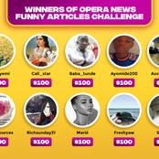 Winners of Opera News Funny Articles Challenge