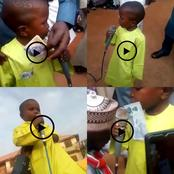 VIDEO: Check What Little Boy Did In Public That Made People To Spray Him Money
