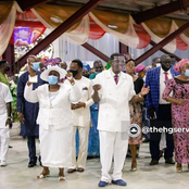 Mummy And Daddy Adeboye dance joyfully during thanksgiving service today [Photos]