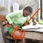 Immorality: See what a girl was caught doing in the class with her body that got people reacting