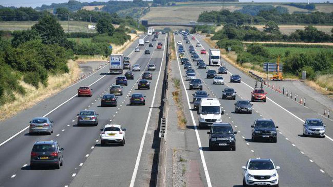 Three cars involved in rush hour motorway crash