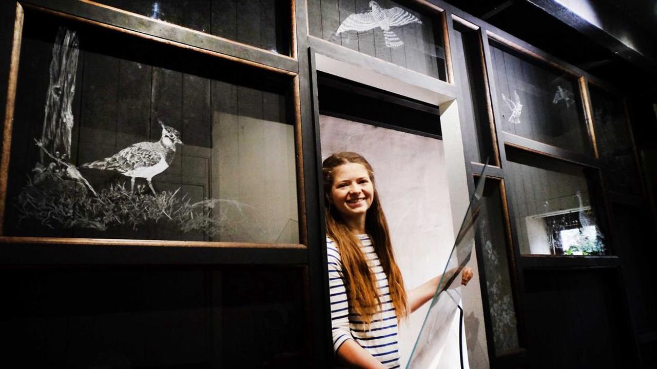 Birds, Beasties and Bewick - An exhibition of glass engravings at Cherryburn Museum