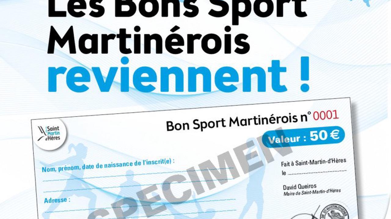 Bon sport martinérois: une réduction de 50 € sur l'adhésion sportive de vos enfants