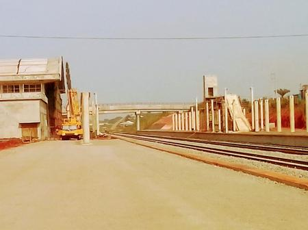 Photos: Checkout the latest update on Wole Soyinka train station ongoing construction works