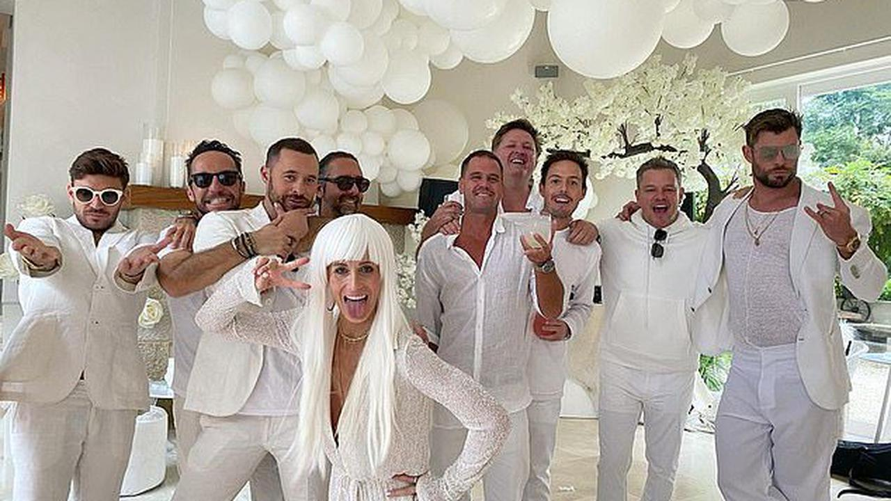 If those walls could talk! The Hemsworths' lavish white party 'was a send-off for American TV personality Michele Merkin'