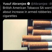 British American Tobacco SA worried about the increase in cigarettes robberies