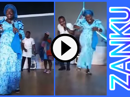 Video: Mother Perfectly Danced A Popular Nigerian Dance Called 'Zanku'