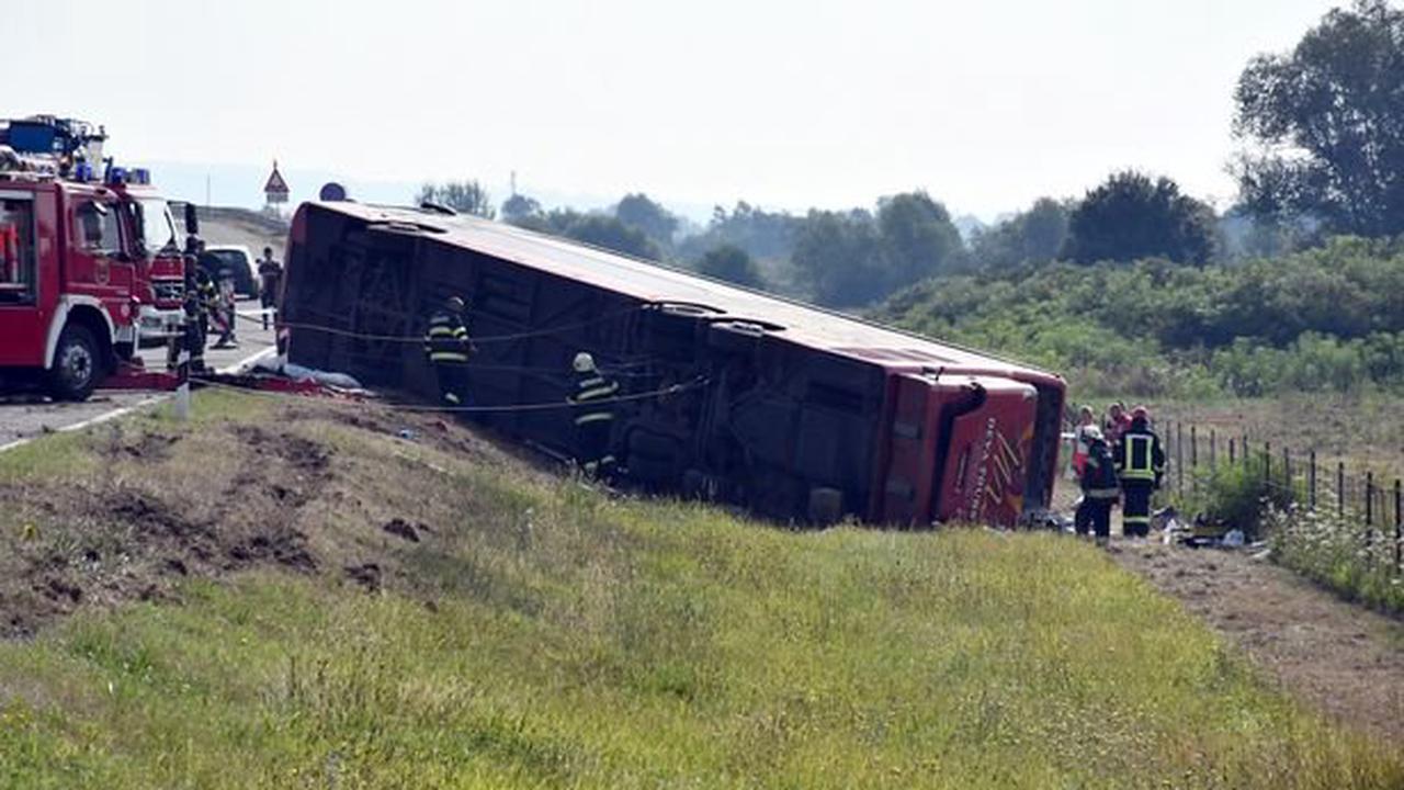 Horror bus crash kills 10 and injures 45 after driver 'fell asleep at wheel'