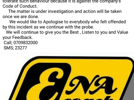 The Power of social media!, ENA Couch Finally responds to the incident where a client was assaulted.