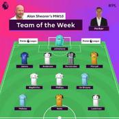 EPL Excellent Team Of The Week Is Out But Cavani Misses In The Squad.