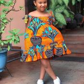 Fews Weeks To Christmas: Check Out These Lovely Ankara Styles You Can Sew Or Buy For Your Children
