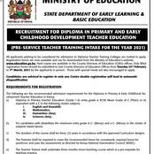 Government Announces 2021 TTC Intakes For Diploma Teachers, Application Deadline is 7th March