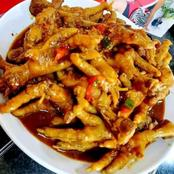 Spicy delicious chicken feet